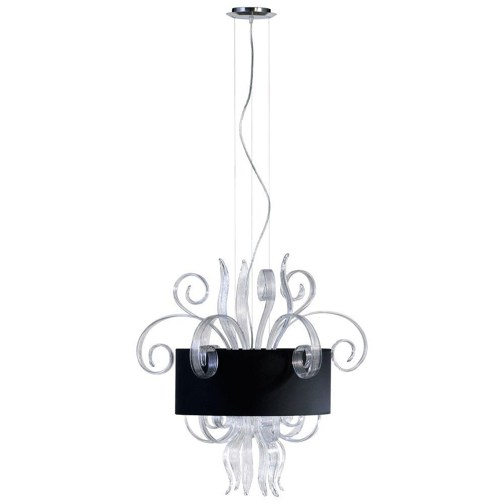 Filament Design Prospect 6-Light Clear and Black Retro Art Pendant