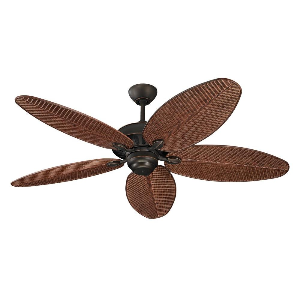 Monte Carlo Cruise 52 in. Indoor/Outdoor Roman Bronze Ceiling Fan with American Walnut Blades