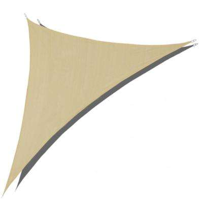 12 ft. x 12 ft. x 17 ft. Sand Right Triangle Sun Shade Sail 185 GSM UV Block for Patio Deck Yard and Outdoor Activities
