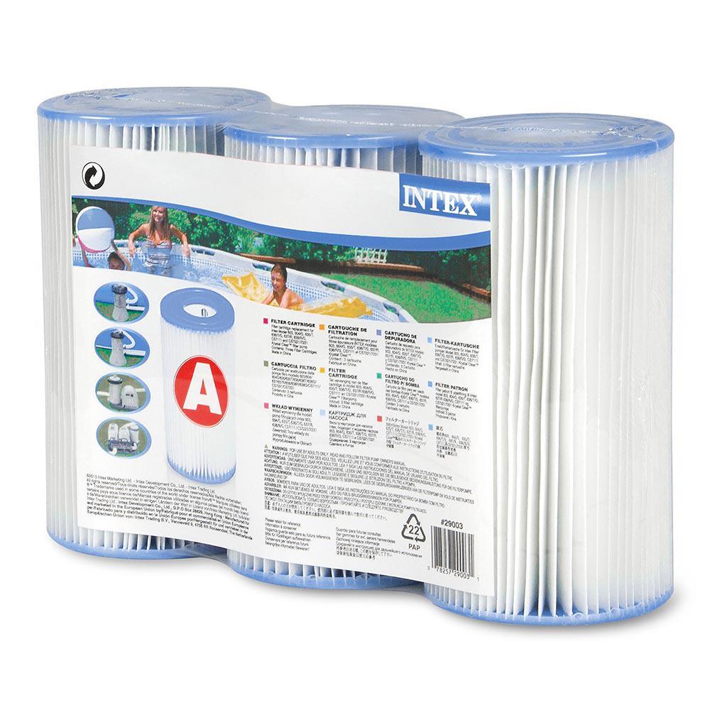Intex Type A 4 25 In Intex Pool Filter Cartridge 3 Pack