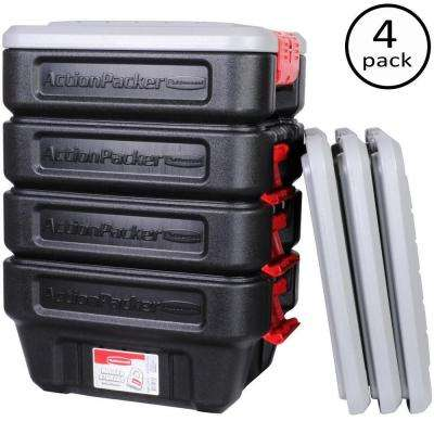 8-Gal. Action Packer Storage Tote (4-Pack)
