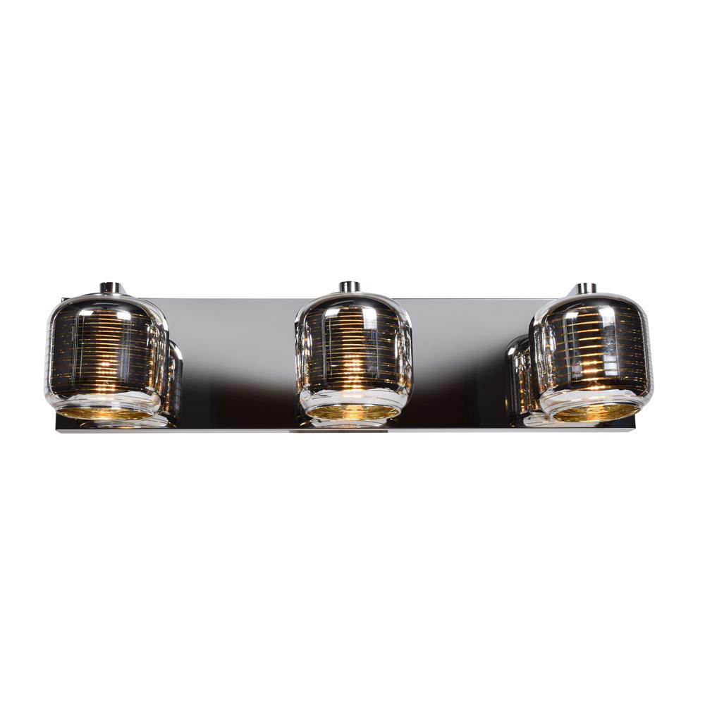 Dor 22 in. W 4.5-Watt Mirrored Stainless Steel Integrated LED Bath Light