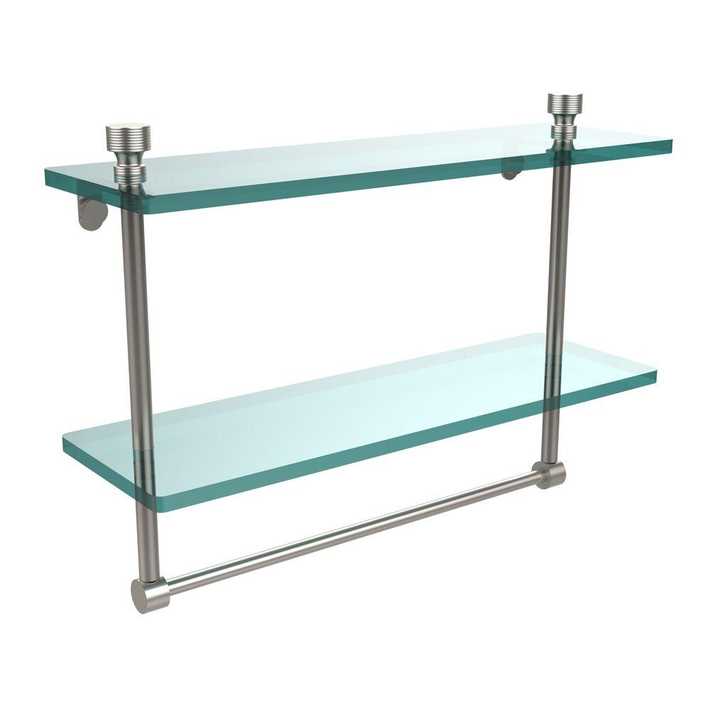 Allied Brass Foxtrot 16 in. L x 12 in. H x 5 in. W 2-Tier Clear ...