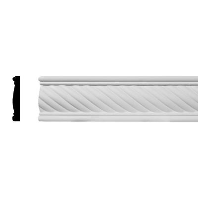 SAMPLE - 5/8 in. x 12 in. x 3 in. Urethane Diana Rope Chair Rail Moulding
