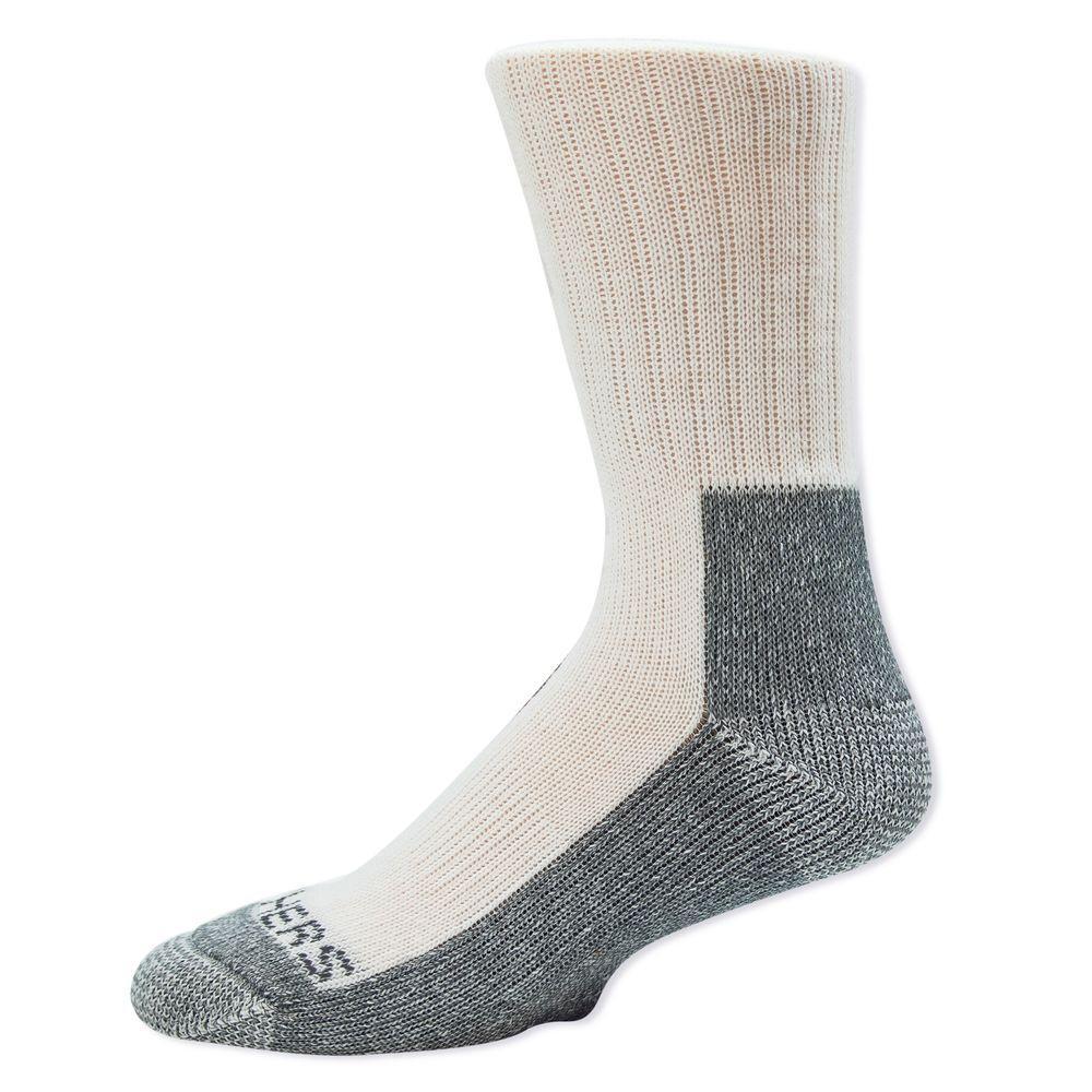 Men Shoe Size 6-12.5 Black/Gray Rubber Sock (2-Pack)