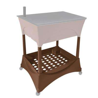 Raised Garden Bed Stand Accessory Kit in Earth Brown