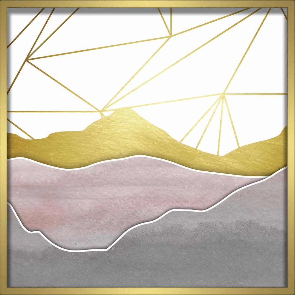 "Linden Ave 24 in. x 24 in. ""Watercolor Mountains- Blush"" Shadowbox ..."