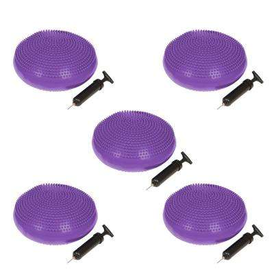 13 in. Dia PVC Fitness and Balance Disc in Purple (Set of 5)