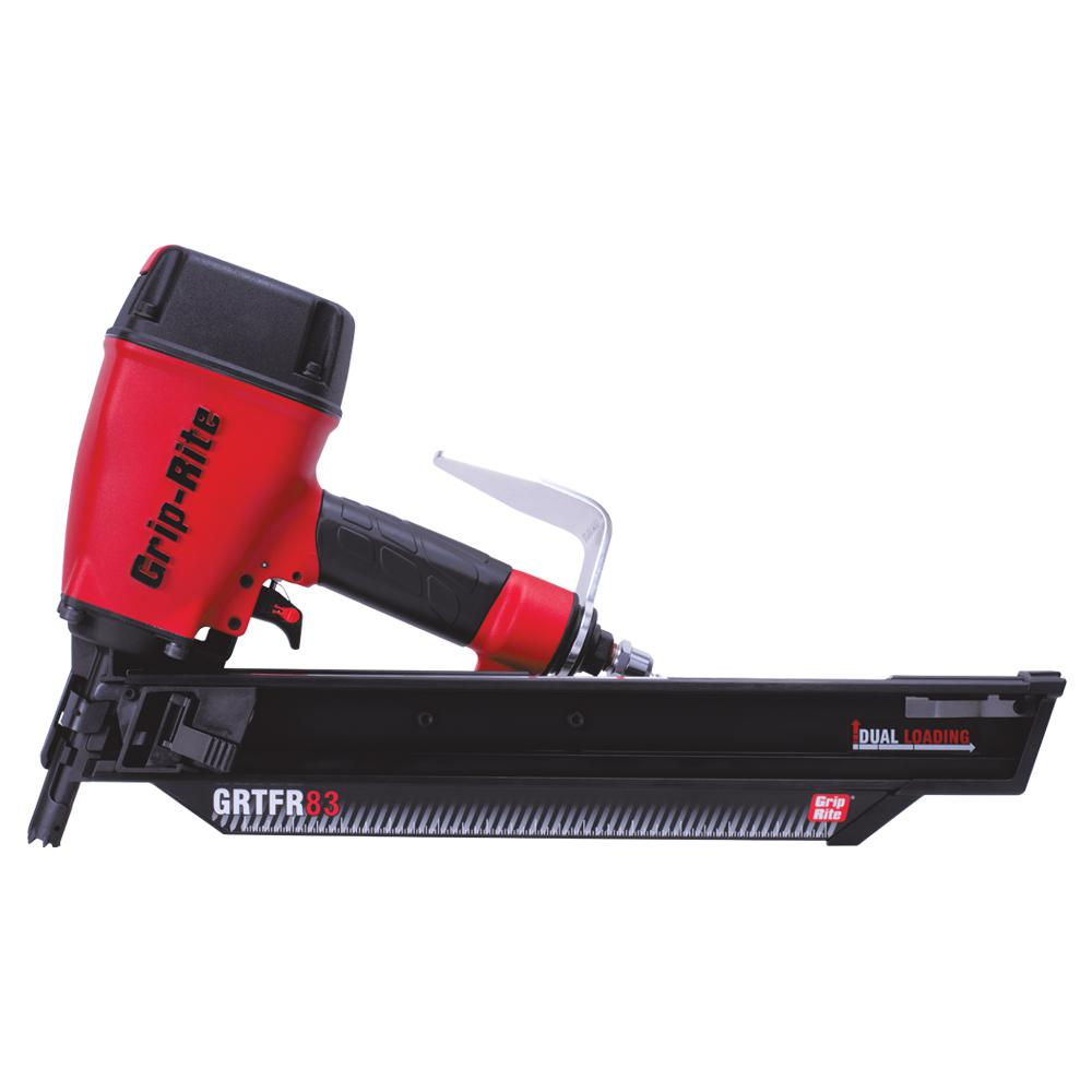 Grip Rite 3 1 4 In 21 Degree Round Head Framing Nailer Grtfr83 The Home Depot