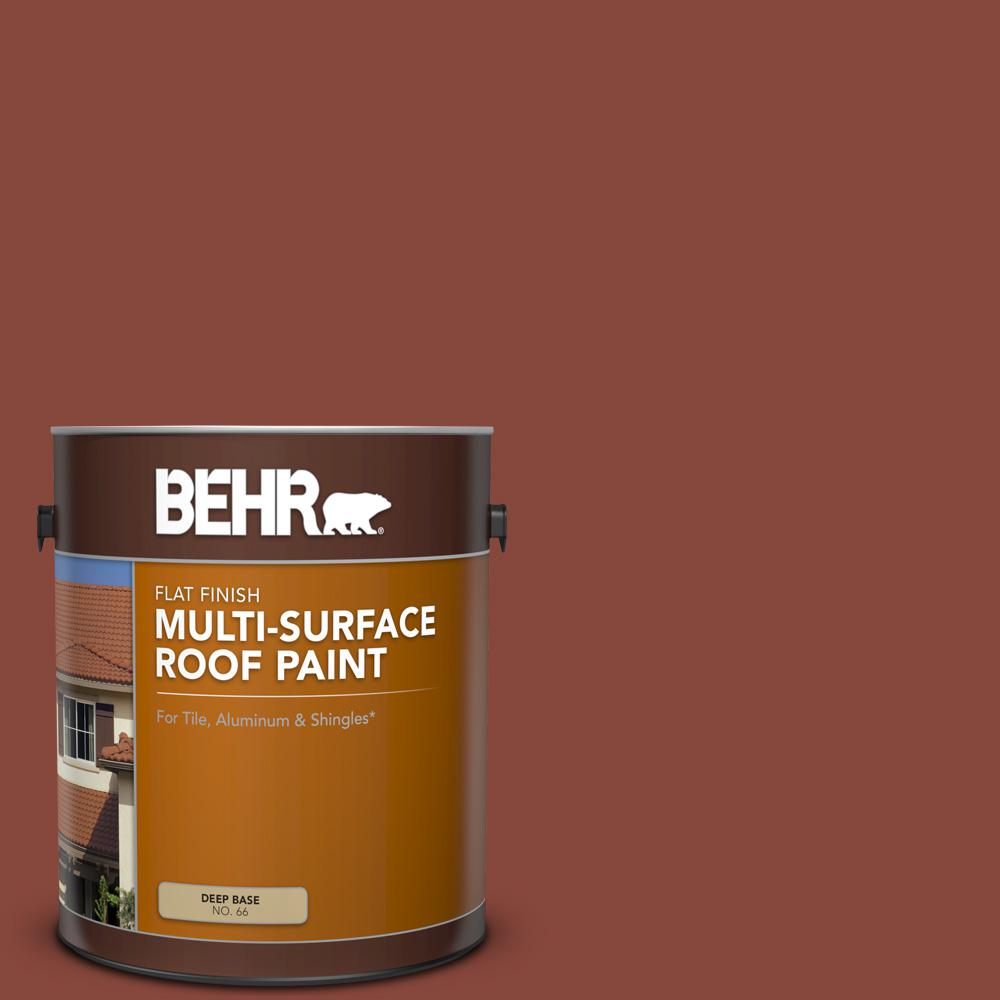 Behr 1 Gal Rp 26 Spanish Tile Flat Multi Surface Exterior Roof Paint 06601 The Home Depot