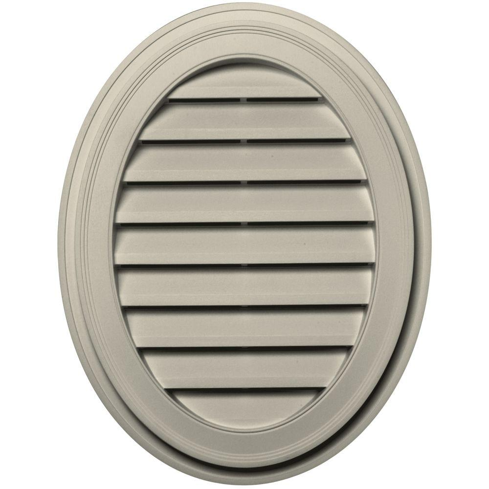 27 in. Oval Gable Vent in Champagne
