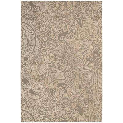 Escalade Cappuccino 3 ft. 9 in. x 5 ft. 9 in. Area Rug