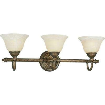 Savannah Collection 3-Light Burnished Chestnut Vanity Fixture