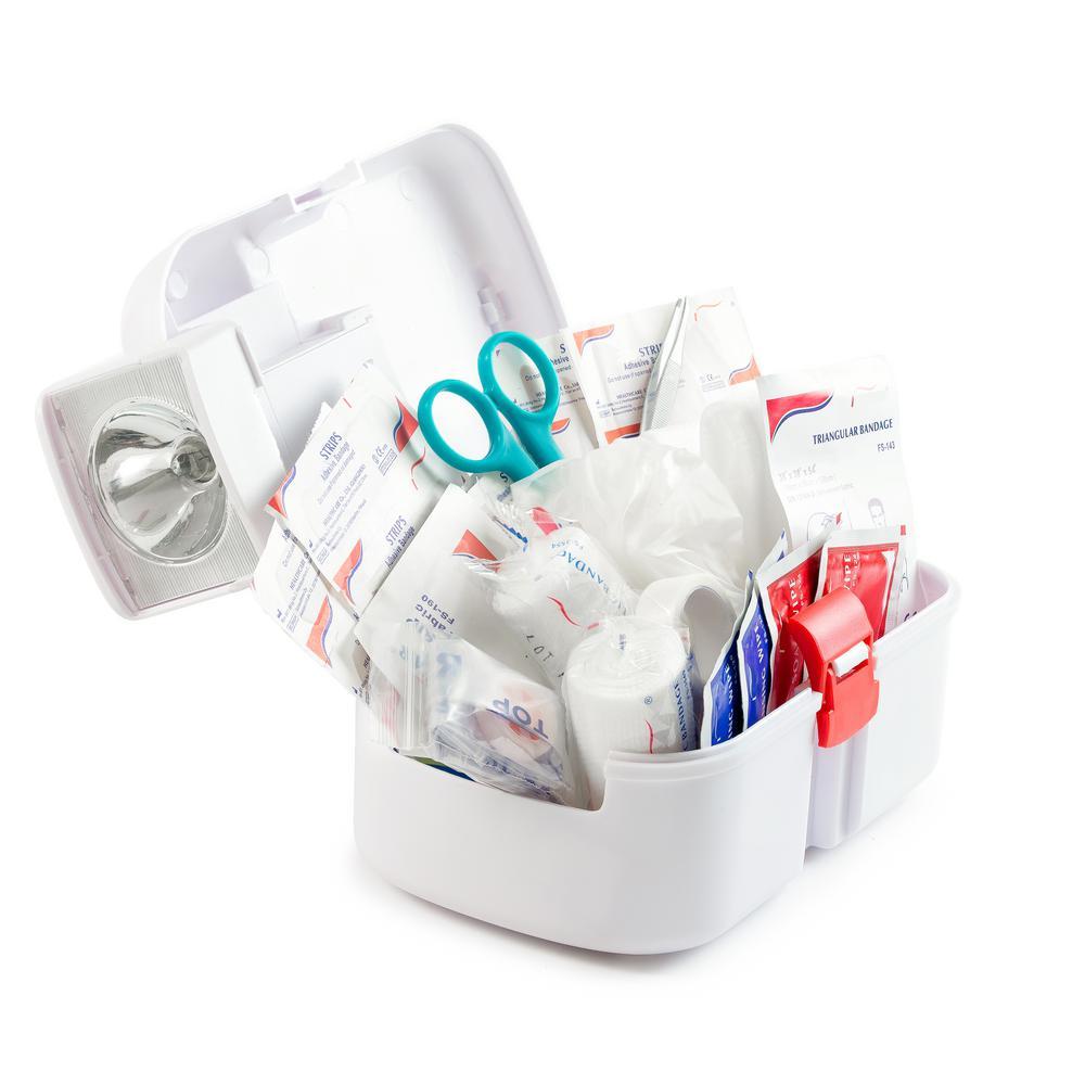 52-Piece First Aid Flashlight Emergency Kit