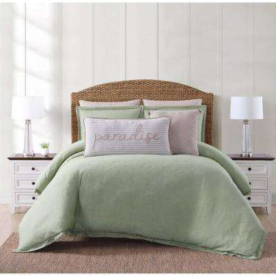 Chambray Coast Green King Comforter with 2-Shams