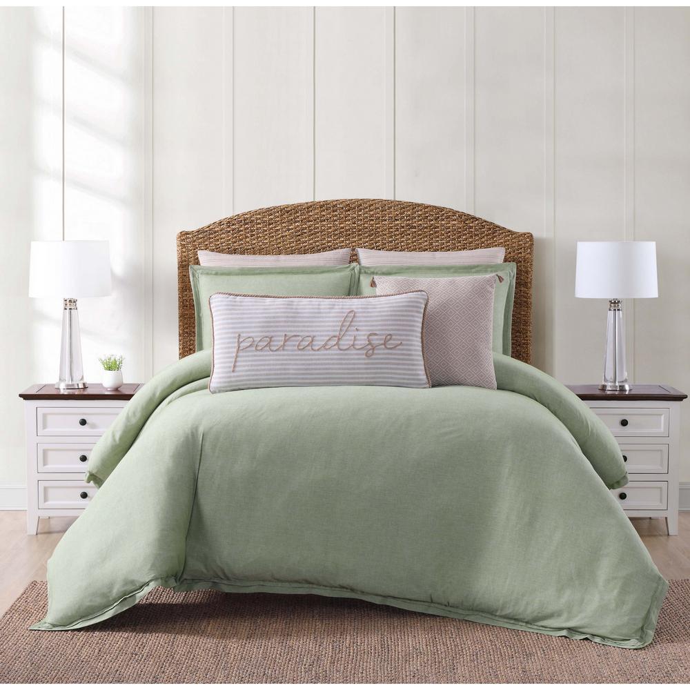 Oceanfront Resort Chambray Coast 2 Piece Green Twin Xl Comforter Set Cs2364grtx 1500 The Home Depot
