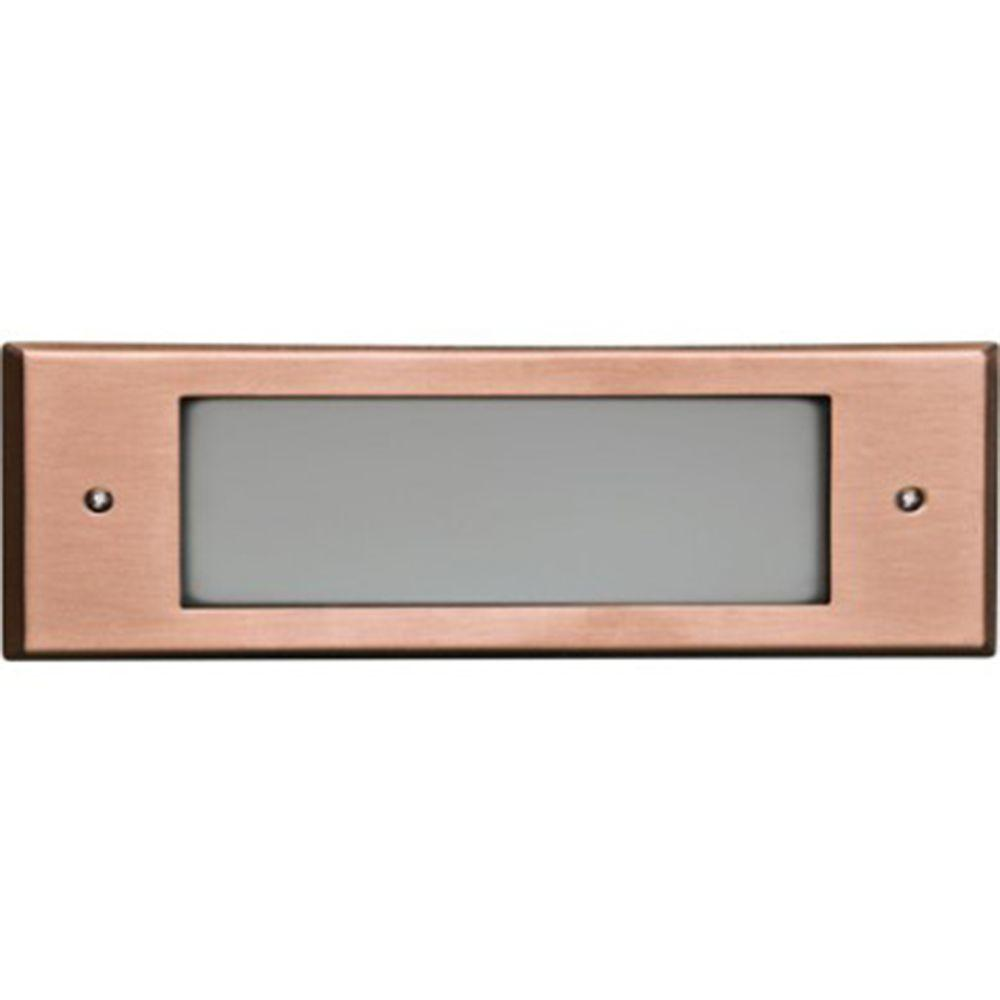 Ashler 2-Light Copper Outdoor LED Recessed Step Light
