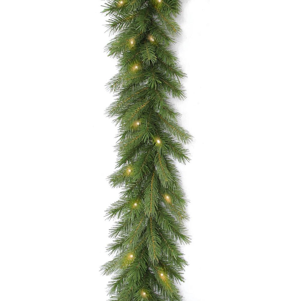 9 ft. Deerfield Fir Garland with Clear Lights