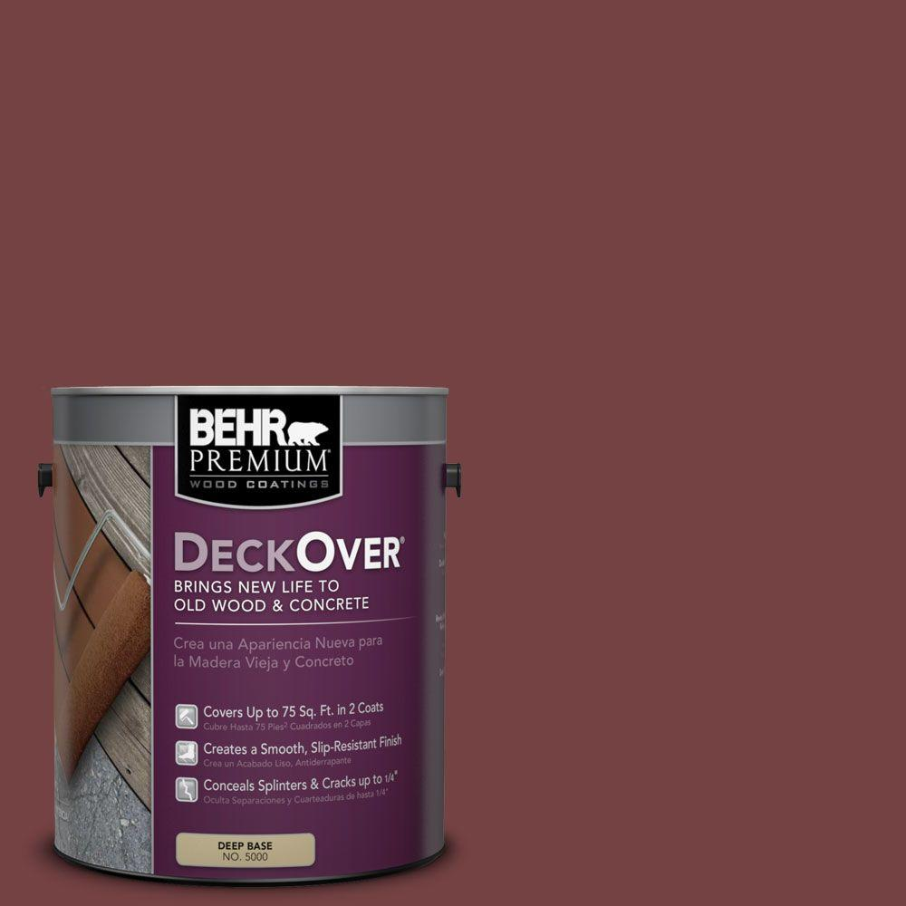 BEHR Premium DeckOver 1 gal. #PFC-04 Tile Red Wood and Concrete Coating