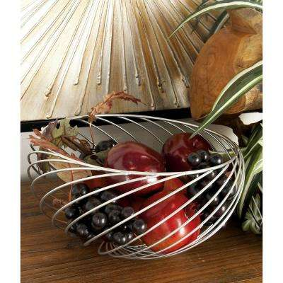 Modern Silver-Finished Decorative Wire Bowls (Set of 3)