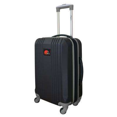 NFL Cleveland Browns Gray 21 in. Hardcase 2-Tone Luggage Carry-On Spinner Suitcase
