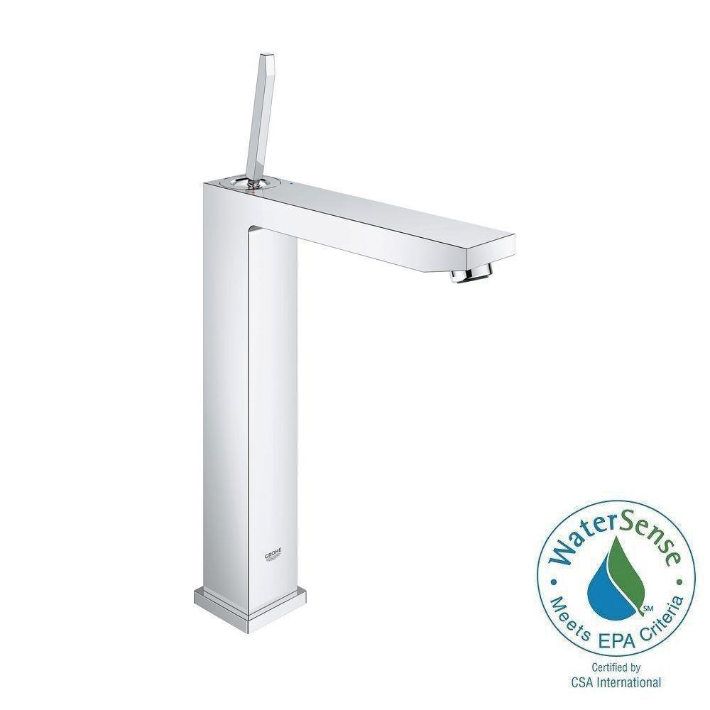 Eurocube Joy XL-Size Single Hole Single-Handle Vessel Bathroom Faucet in StarLight Chrome
