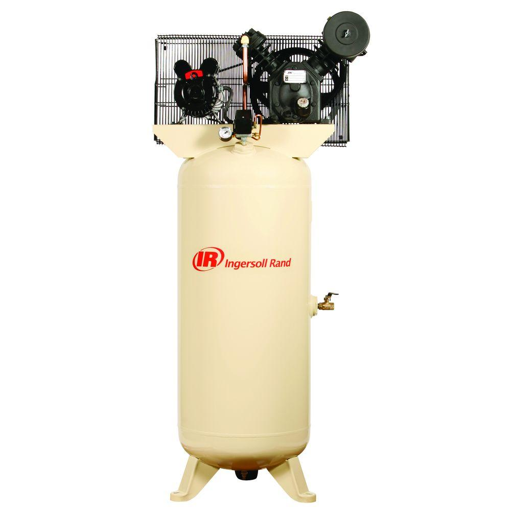 Ingersoll Rand Type 30 Reciprocating 60 Gal 5 Hp Electric