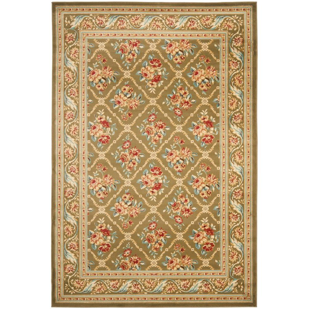 Safavieh Lyndhurst Green 3 ft. 3 in. x 5 ft. 3 in. Area Rug