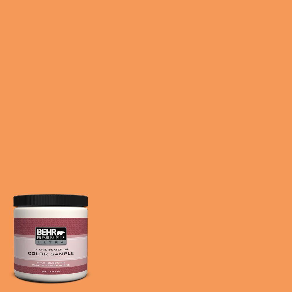 BEHR Premium Plus Ultra 8 oz. #260B-6 Blaze Orange Interior/Exterior Paint Sample