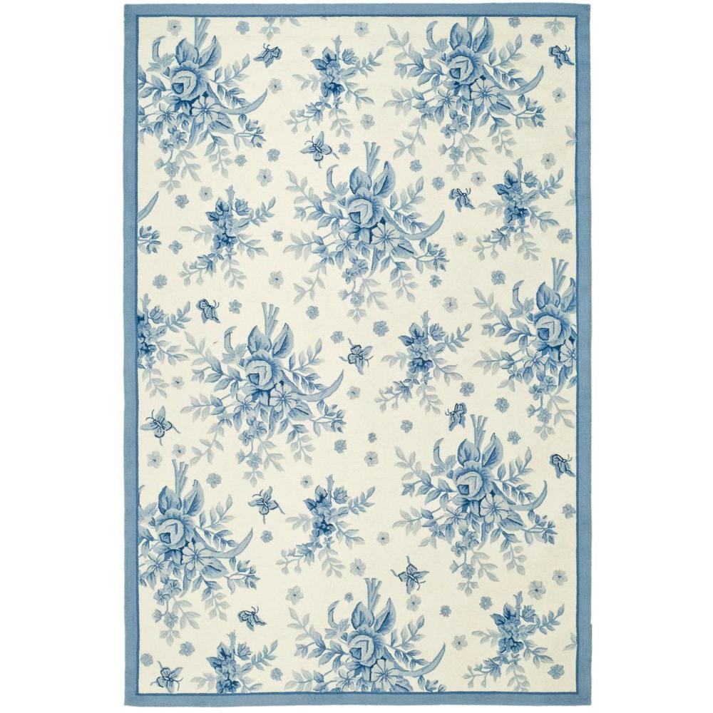 Safavieh Chelsea Ivory/Blue 7 ft. 9 in. x 9 ft. 9 in. Area Rug