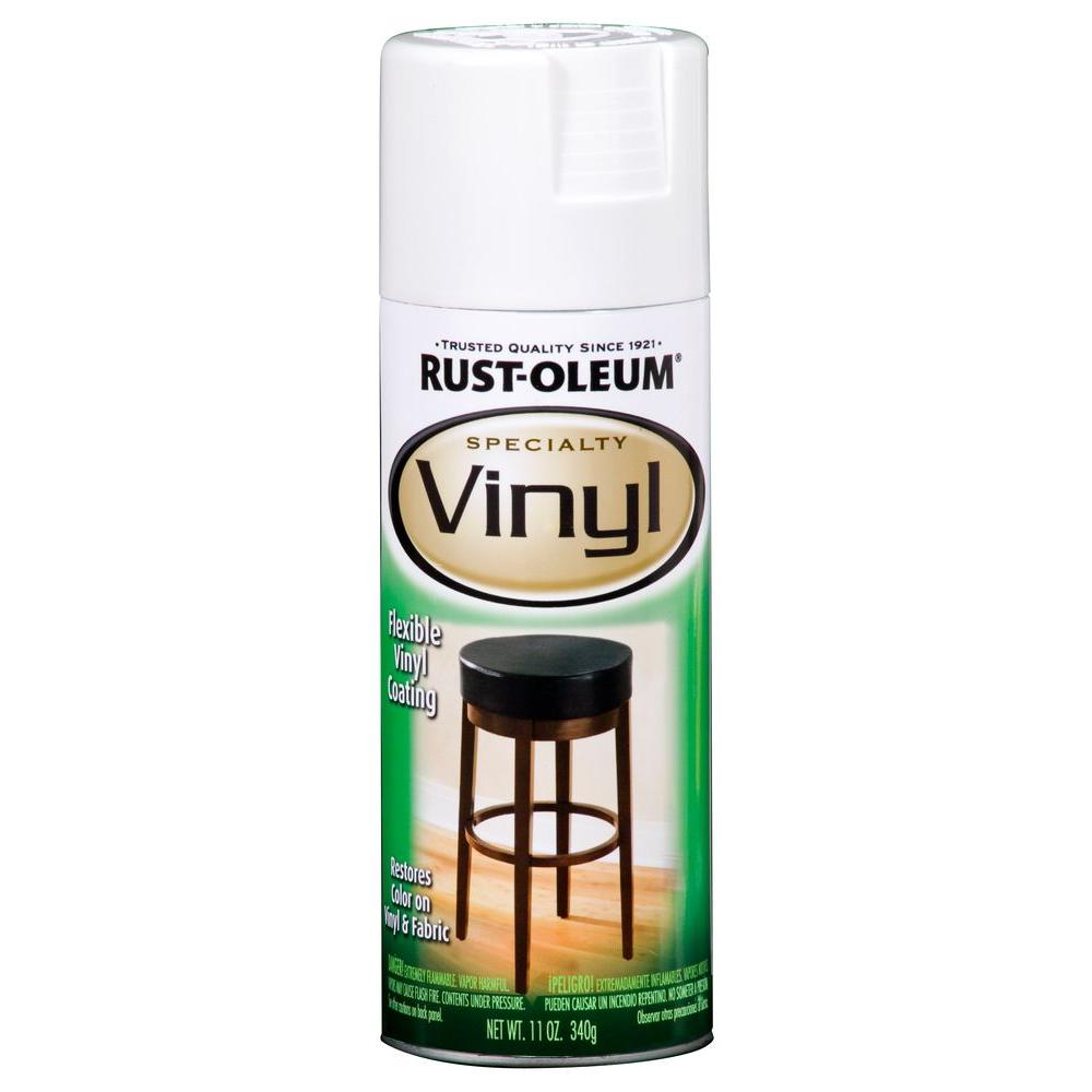 Rust-Oleum Specialty 11 oz. White Vinyl Spray Paint (6-Pack ...