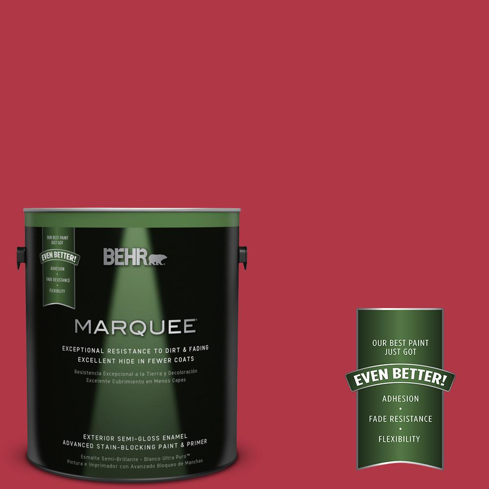 BEHR MARQUEE 1-gal. #140B-7 Frosted Pomegranate Semi-Gloss Enamel Exterior Paint