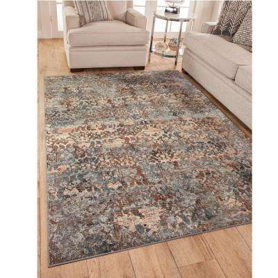 Sonoma Brixton Grey/Pink/Blue/Multi 5 ft. x 8 ft. Area Rug