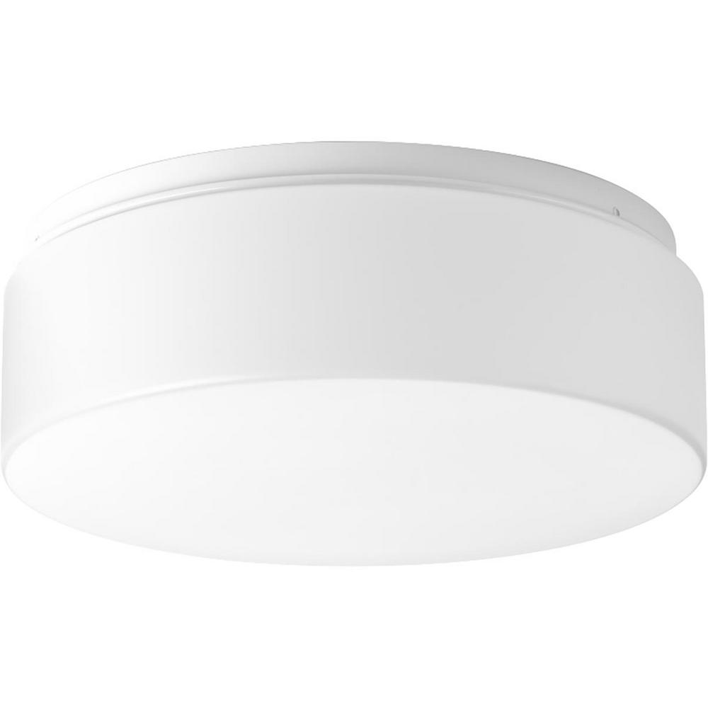 Drums and Clouds Collection 21-Watt White Integrated LED Flush Mount