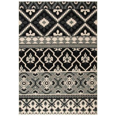 Veranda Black/Beige 7 ft. x 10 ft. Indoor/Outdoor Area Rug