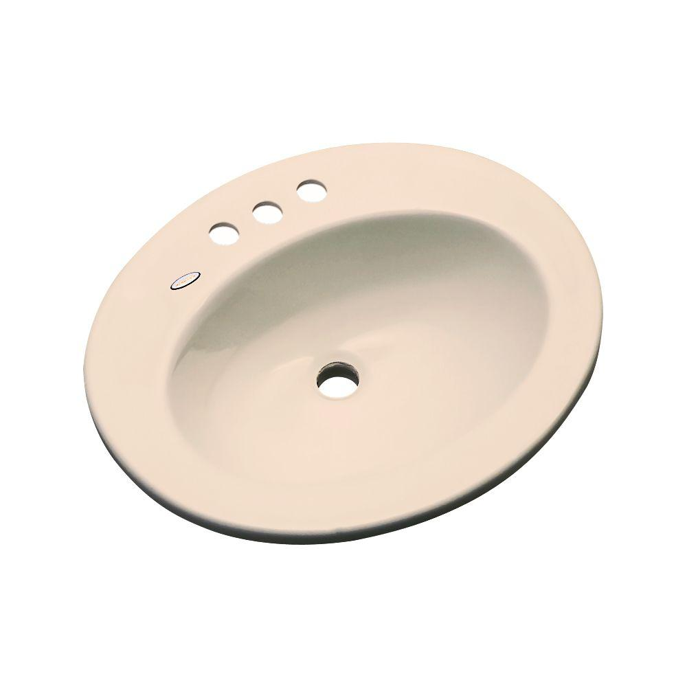 Austin Drop-In Bathroom Sink in Peach Bisque