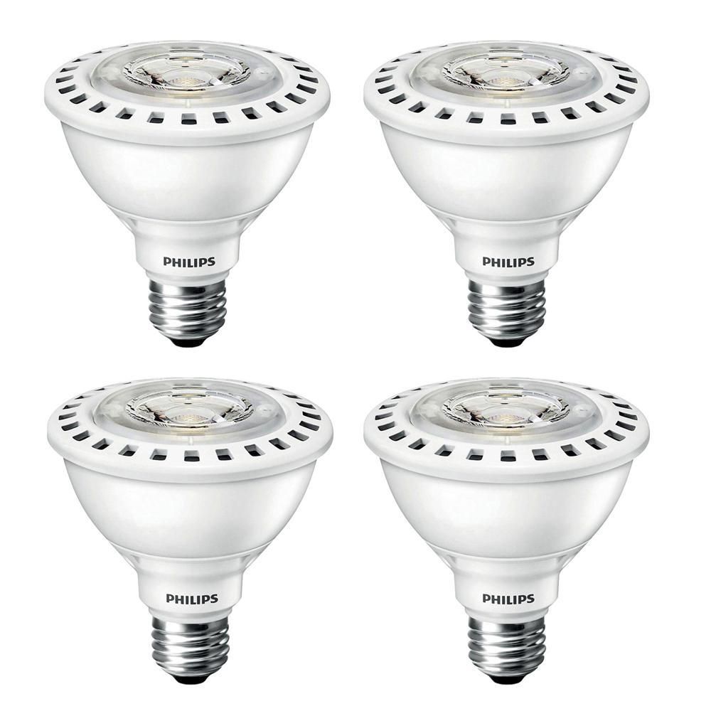Led Bulb Philips: Philips 75-Watt Equivalent PAR30S Flood ULW LED Light Bulb