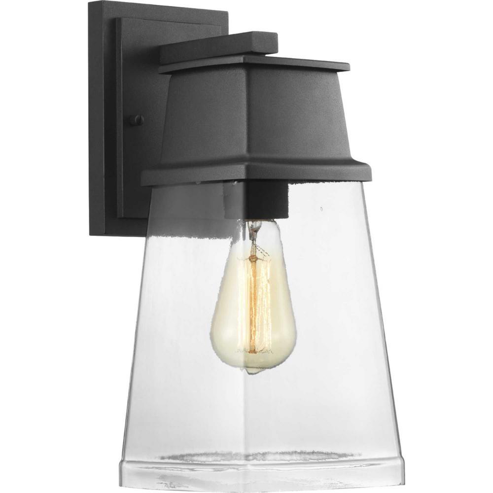 Greene Ridge Medium 1-Light Black Outdoor Wall Lantern Sconce