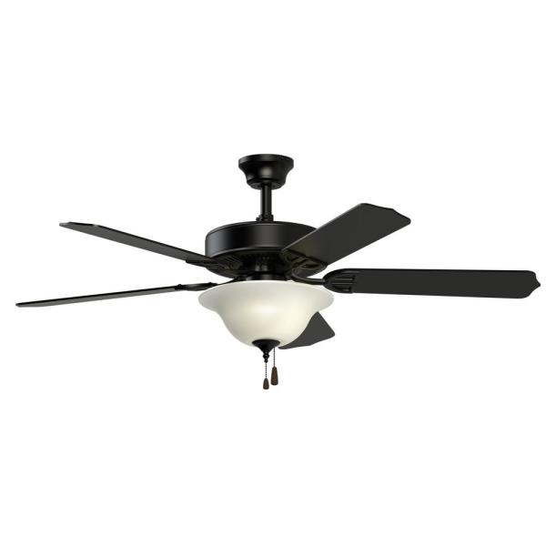 Aire Décor 52 in. Black Ceiling Fan with Glass Bowl Light Kit