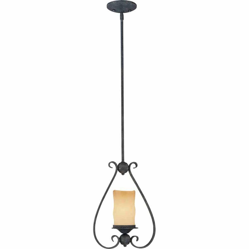 Filament Design Lenor 1-Light Antique Iron Incandescent Ceiling Pendant