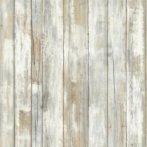 Distressed Wood Vinyl Peelable Roll (Covers 28.18 sq. ft.)