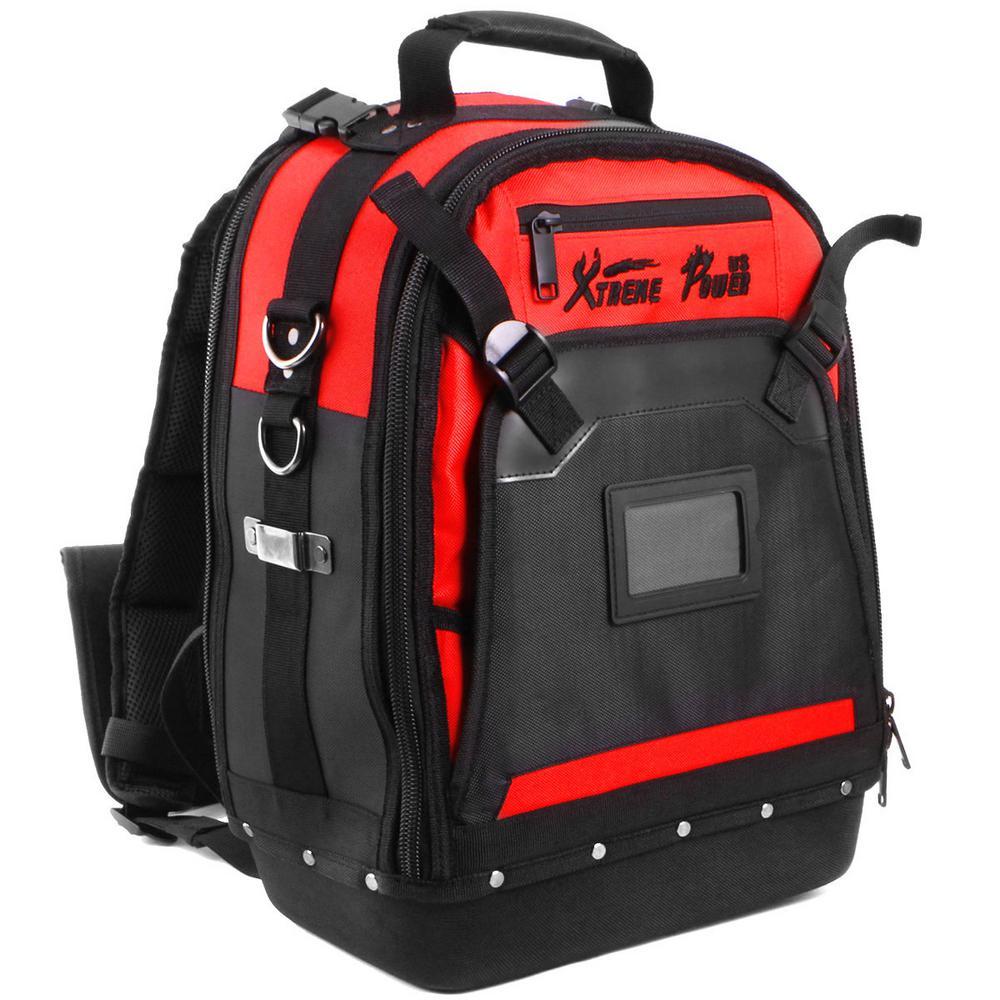 17 in. x 8 in. Heavy-Duty Jobsite Tool Backpack Bag