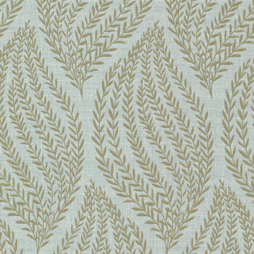 8 in. x 10 in. Calix Sage Sienna Leaf Wallpaper Sample