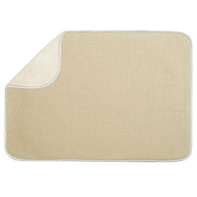 iDry 24 in. x 18 in. X-Large Kitchen Mat in Wheat/Ivory