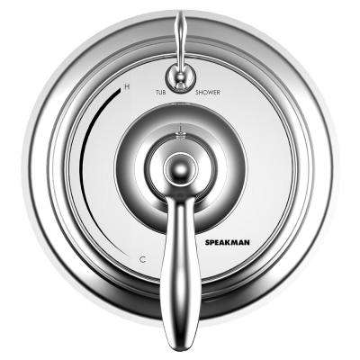 SentinelPro 1-Handle Wall-Mounted Trim Kit in Polished Chrome (Valve Not Included)