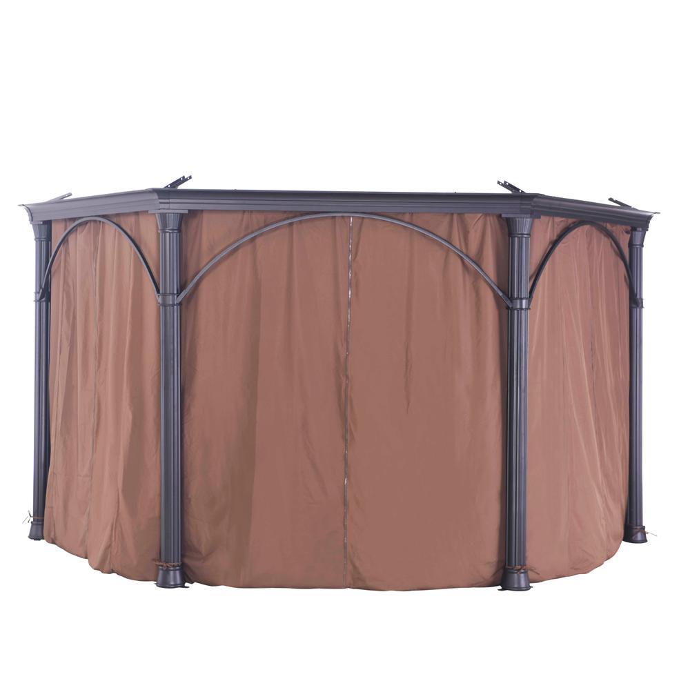 SunJoy Universal Curtain for Hexagonal Gazebos