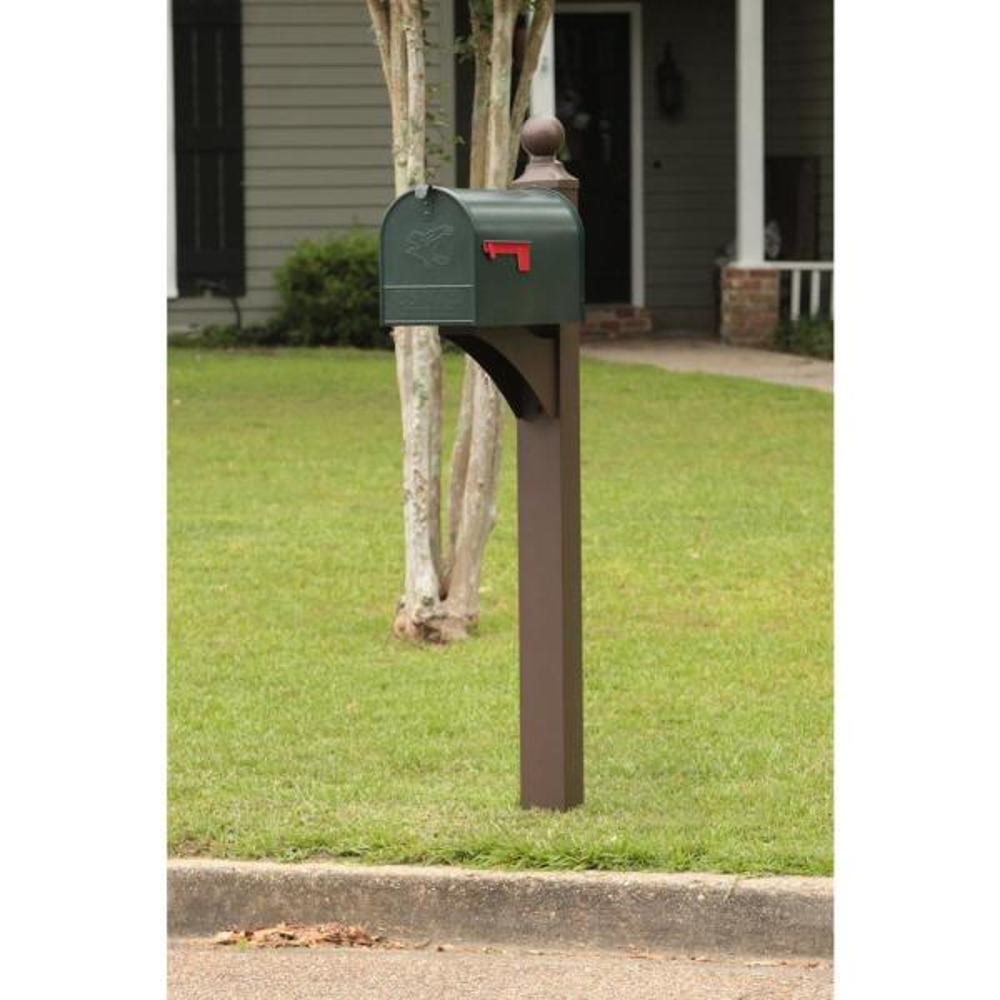 Column Mailbox Eagle Locking PC Green