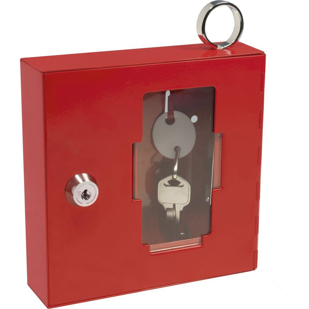 BARSKA Breakable Emergency Key Box Safe with Attached Hammer A Style