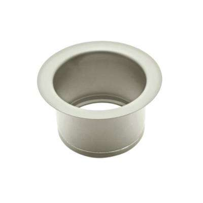 Extended 2-1/2 in. Disposal Flange or Throat for Fireclay Sinks and Shaws Sinks in Satin Nickel