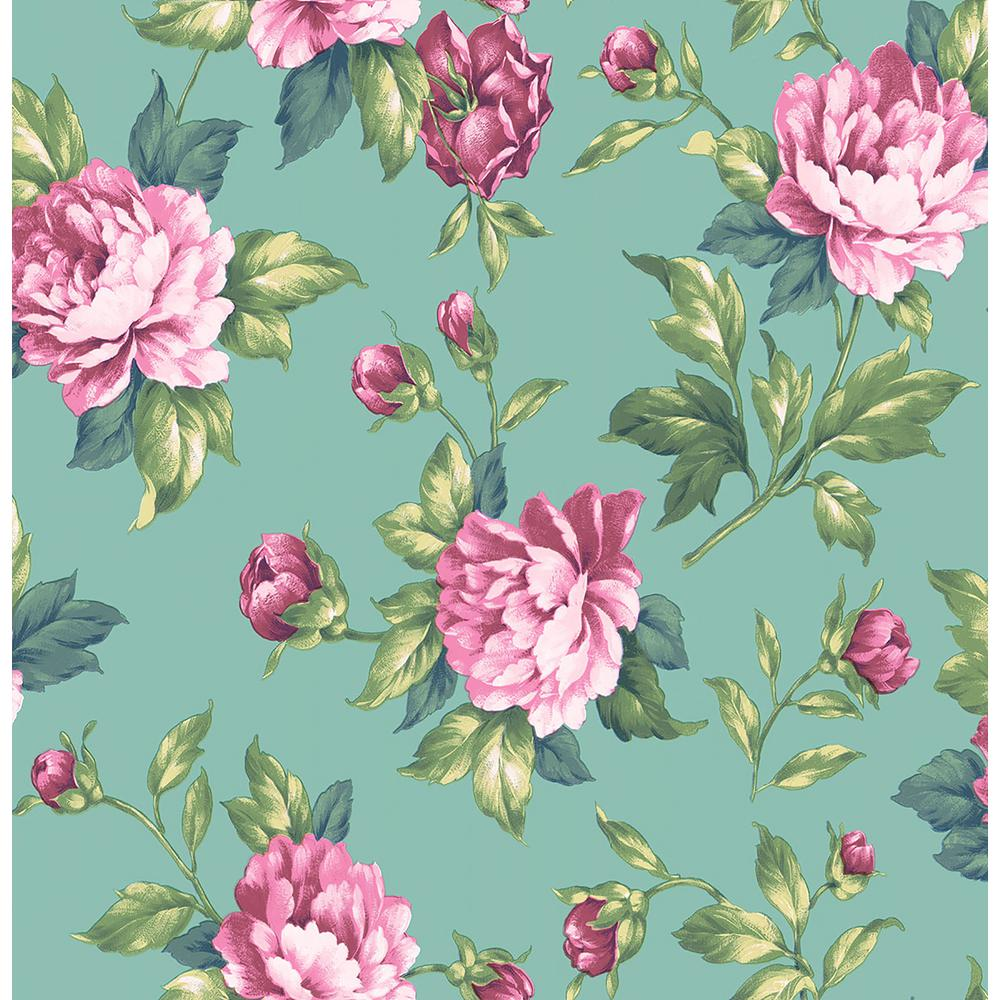 Brewster Catherine Green Floral Wallpaper 2734 003505 The Home Depot